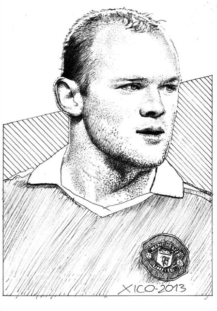 Wayne Rooney Portrait Stars Portraits Portrait of Wayne Rooney by FCARLOS